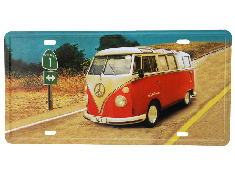 vintage blechschild deko vw bus bulli retro schild kult. Black Bedroom Furniture Sets. Home Design Ideas