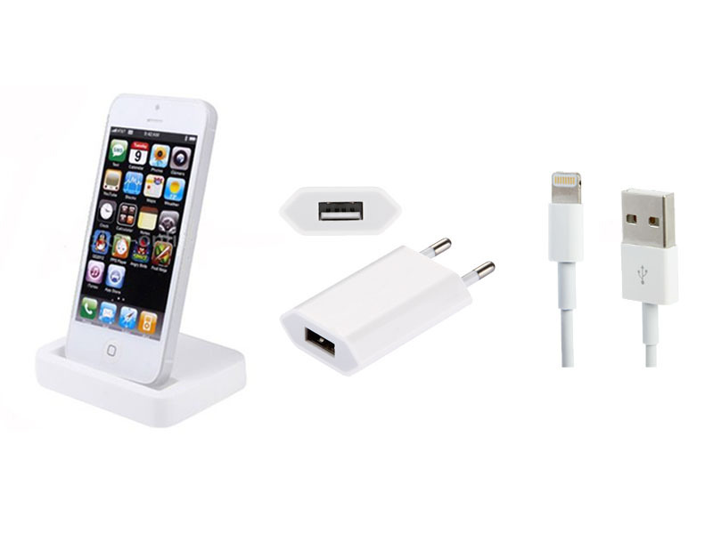 usb ladestation f r apple iphone 5 5c 5s dock dockingstation ladeger t ladekabel. Black Bedroom Furniture Sets. Home Design Ideas