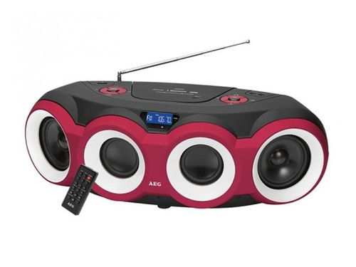 AEG Stereo Radio Soundbox CD/MP3/BT SR 4364 BT Schwarz/Rot