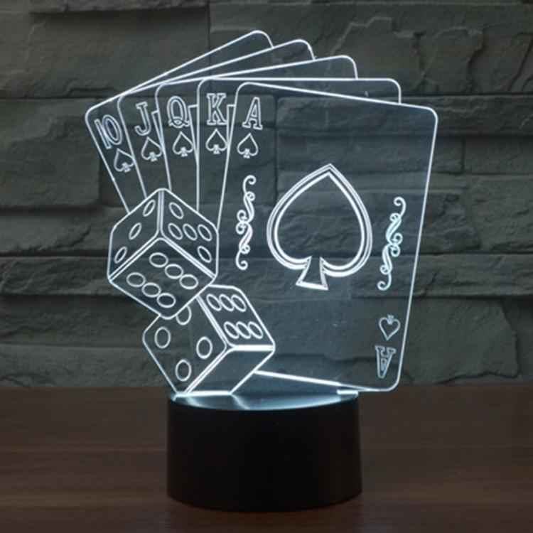 3d Led Tisch Lampe Leuchte Mit Holo Motiv Deco Licht Pwshop24 De