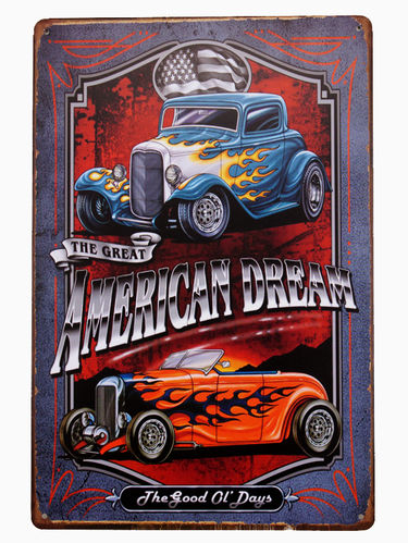 Blechschild American Hotrod Hot Rods Custom Car Retro Deko Schild Modding