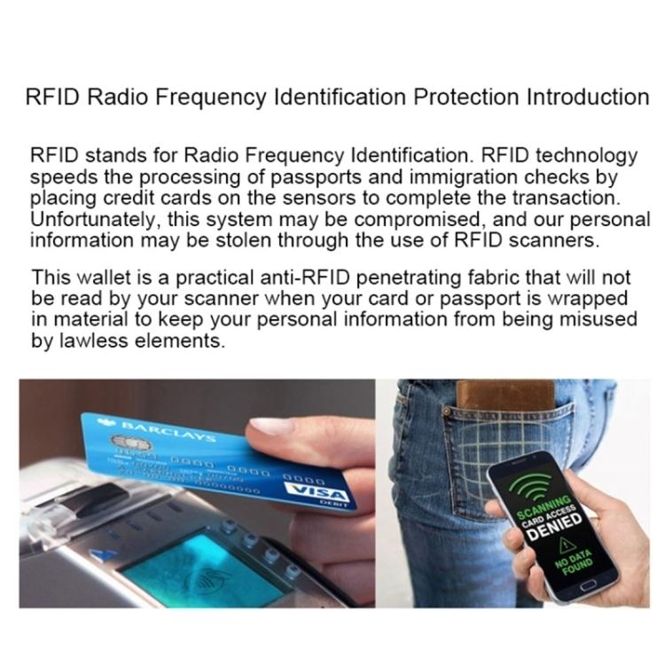 RFID NFC Schutzhülle Blocker Datenschutz Abschirmung Personalausweis Kreditkarte